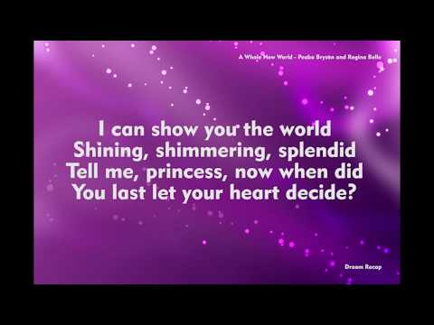 A Whole New World Aladdin Movie - Peabo Bryson And Regina Belle (Lyrics Music Song)