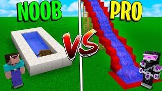 ¿¡TOBOGÁN DE NOOB VS TOBOGÁN DE PRO EN MINECRAFT!?   MINECRAFT TROLL