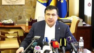 Саакашвили пытается говорить на украинском