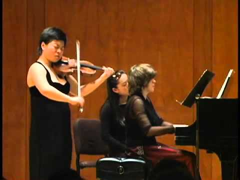 Yura Lee, violin - Janacek Sonata (2 of 4)