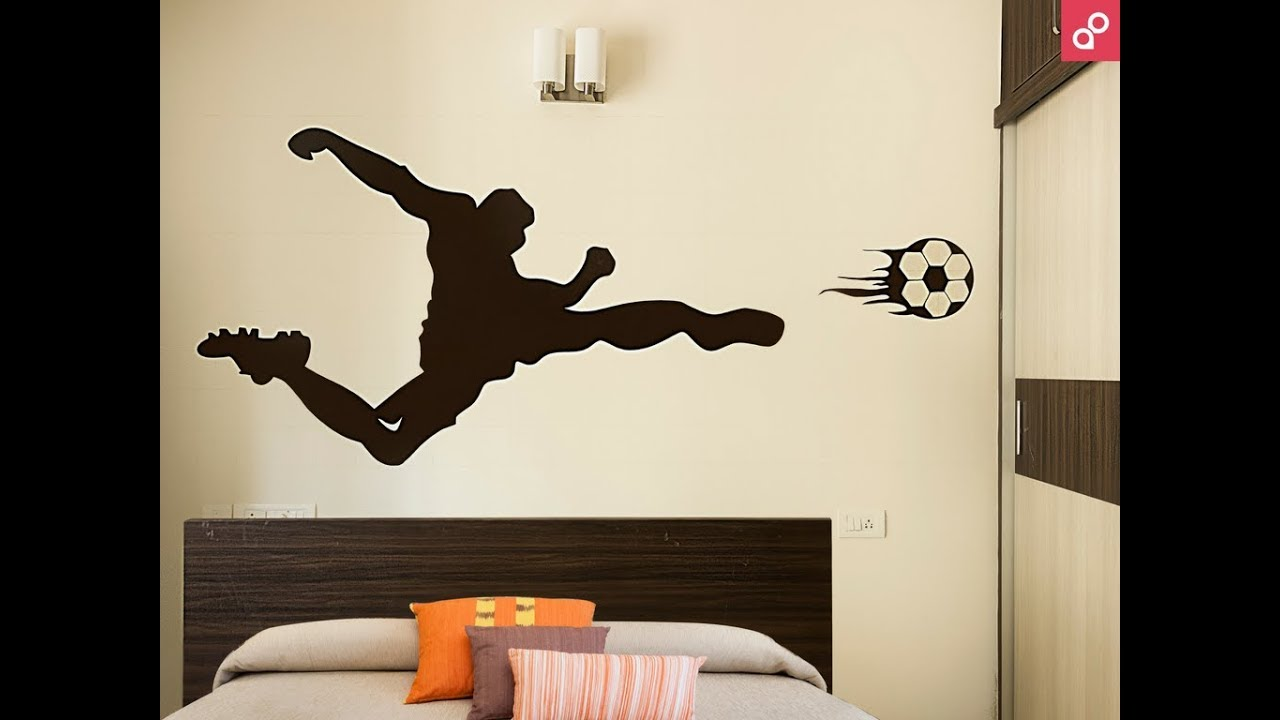 Kids Room Wall Painting Design Sports Theme By Aapkapainter
