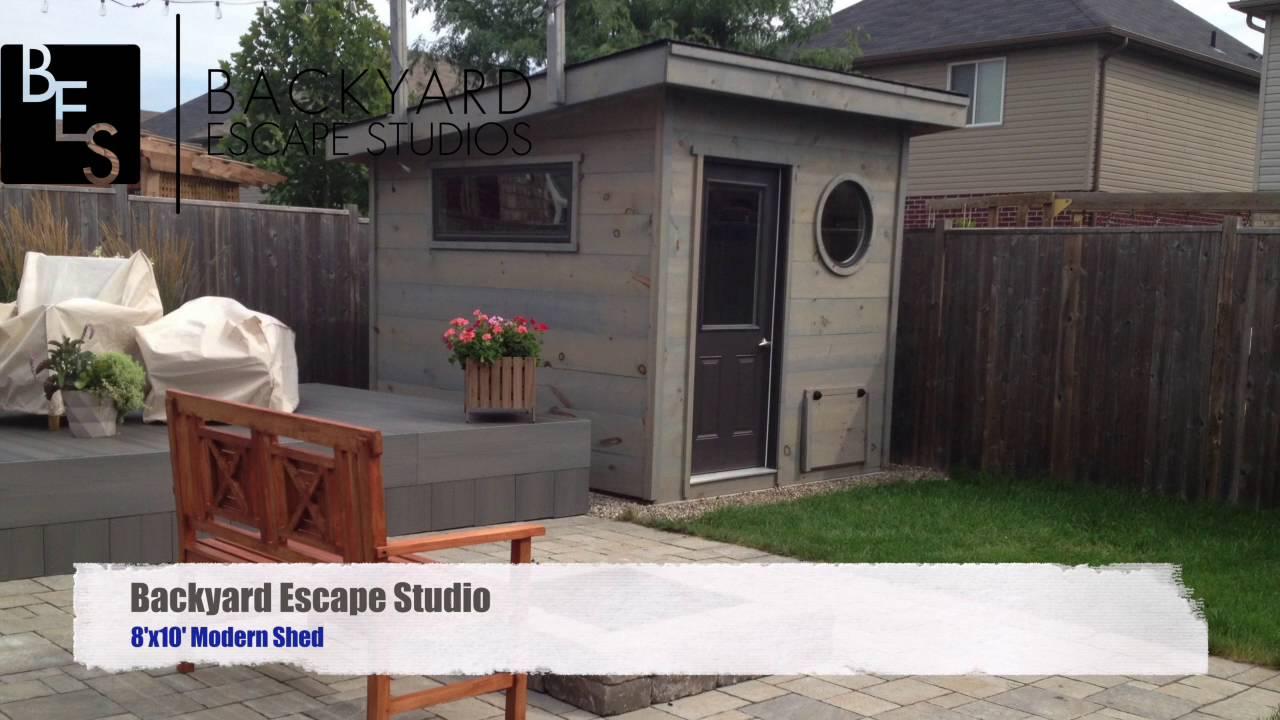 ^ 8x10 Modern Shed Backyard scape Studios - Youube