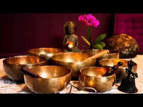 3 STUNDEN Lang Tibetanischen Klangschalen - Chakra Heilung Tone F Musik Herz Chakra