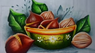 Pintura com Nozes e Castanha