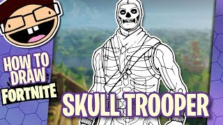 How to Draw the SKULL TROOPER (Fortnite: Battle Royale) | Narrated Easy Step-by-Step Tutorial