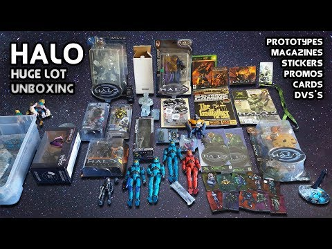 Halo Huge Lot Unboxing (Includes Prototype figures, promotional items and other rare stuff)