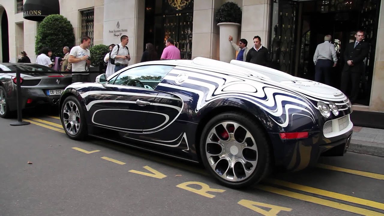 bugatti veyron l 39 or blanc start up and exhaust sound. Black Bedroom Furniture Sets. Home Design Ideas