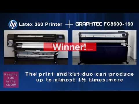 Graphtec & HP - Print and Cut Duo Speed Test