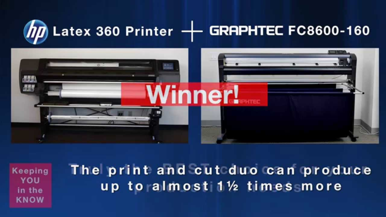 Graphtec Amp Hp Print And Cut Duo Speed Test Youtube