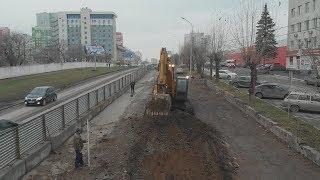 UTV. После 3 лет реконструкции на одной из центральных улиц Уфы появятся тротуары и велодорожка
