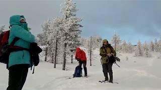 Тест снегоступов в горной местности