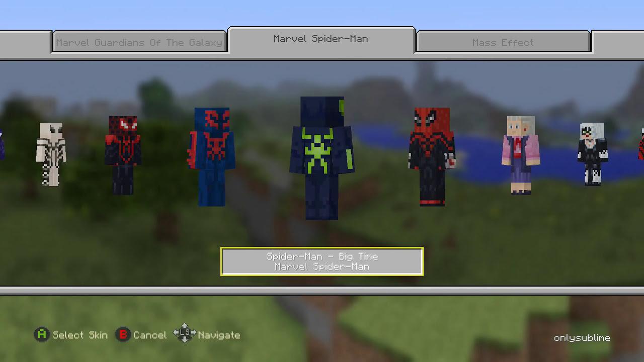 Marvel Spider-Man skin pack Minecraft Xbox One Edition ... Xbox One Skins Minecraft