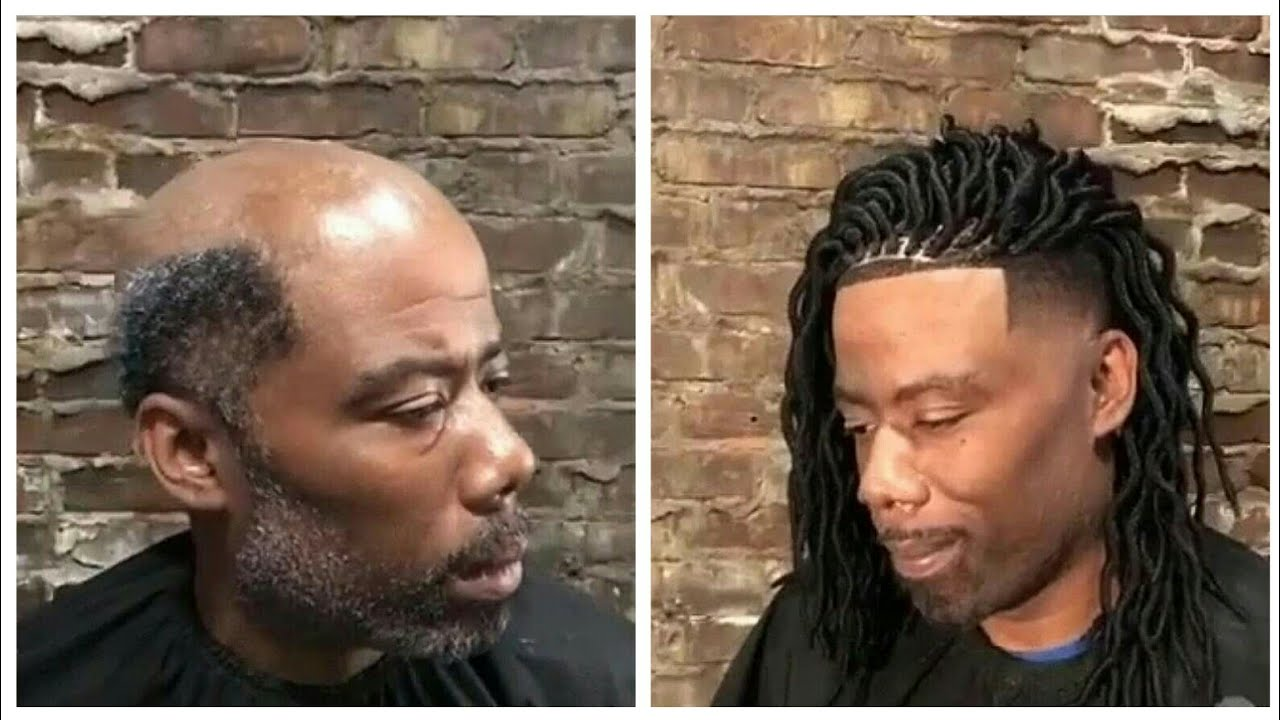 Black Hair Styles For Men: Man Weave Transformation #6