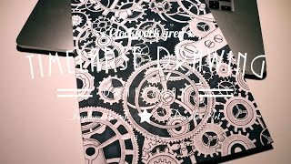 Time-lapse Drawing Clockwork grey  | Session VI