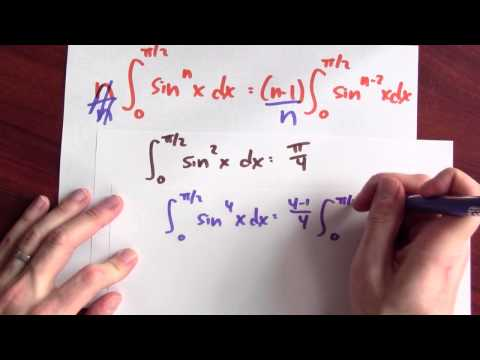 What is the integral of sin^n x dx in terms of sin^(n-2) x dx? - Week 14 - Lecture 8 - Mooculus