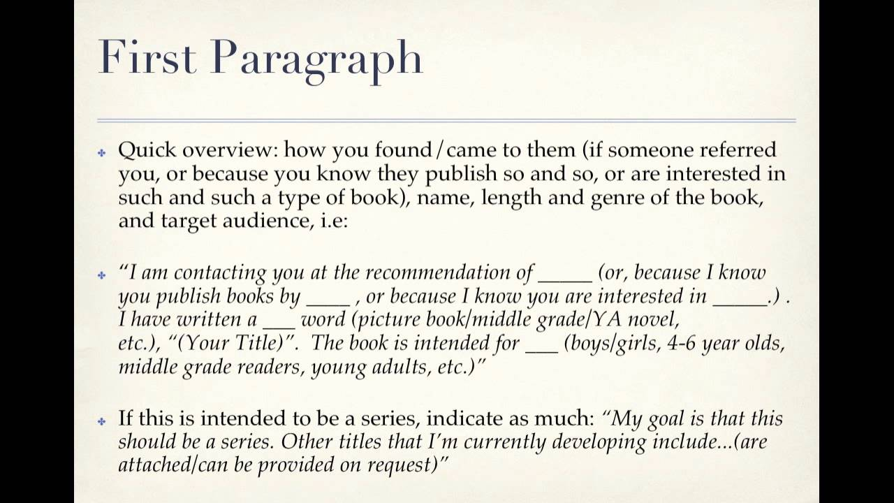 How To Write a Picture Book Query.mov