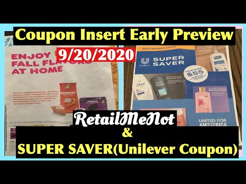 COUPON INSERTS PREVIEW FOR SUNDAY 9/20/20 | RetailMeNot & Super Saver Early Coupon Preview