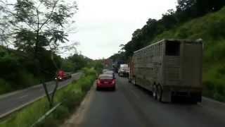 Bloqueo entre Coatzacoalcos y Las Choapas, Veracruz.