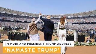 PM Modi addresses the Namaste Trump community programme in Ahmedabad