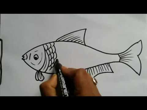 How To Draw A Fish, Drawing For Kids, Fish. Must Watch
