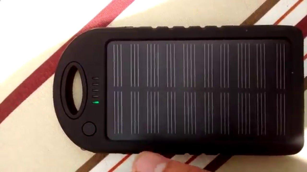 0d2ac6e9bd6 Carregador Solar Power Bank - YouTube