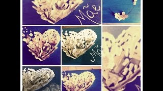 Quadro borboletas e Coração com Fotos - Dia das mães parte 1