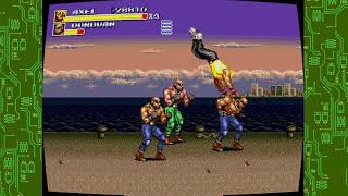 Sega genesis classics collection streets of rage 3 axel doing rage mode gameplay