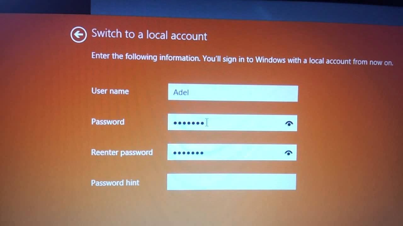 Windows 8 1 10   Signin Without Microsoft Account Switch
