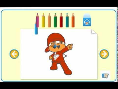 Mundo Pocoyo Clip - Dibujos para pintar y colorear / recortables ...