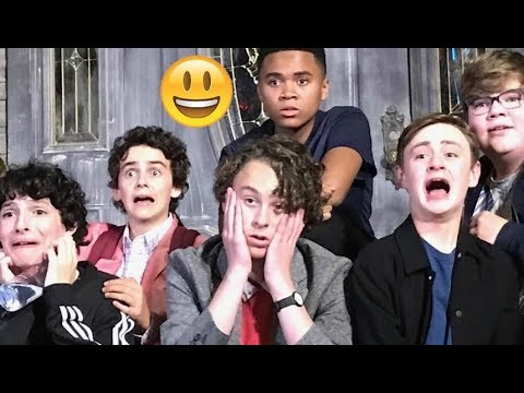 IT Movie Cast - TRY NOT TO LAUGH😊😊😊 - Best Funniest Moments 2017 #7