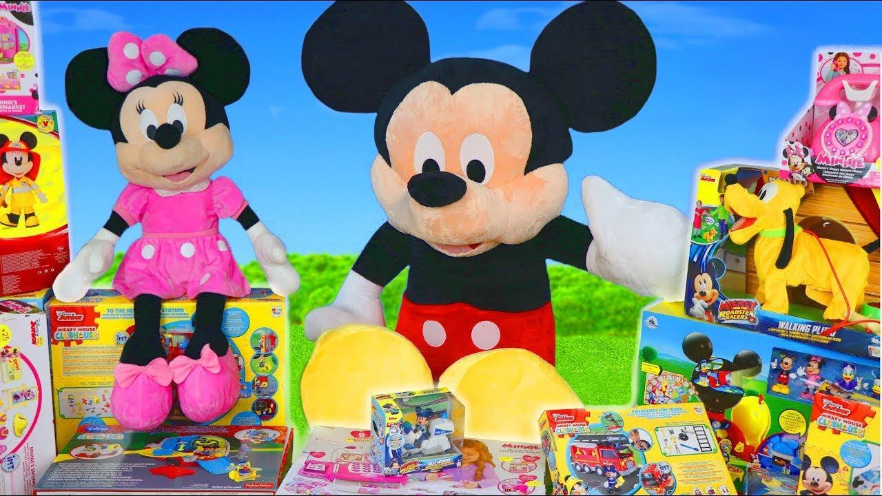 Brinquedos da Minnie e Mickey - Bonecas , Brinquedos e carrinhos ara crianças - Toys for kids