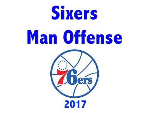 Philadelphia 76ers (Sixers) Man Offense 2017