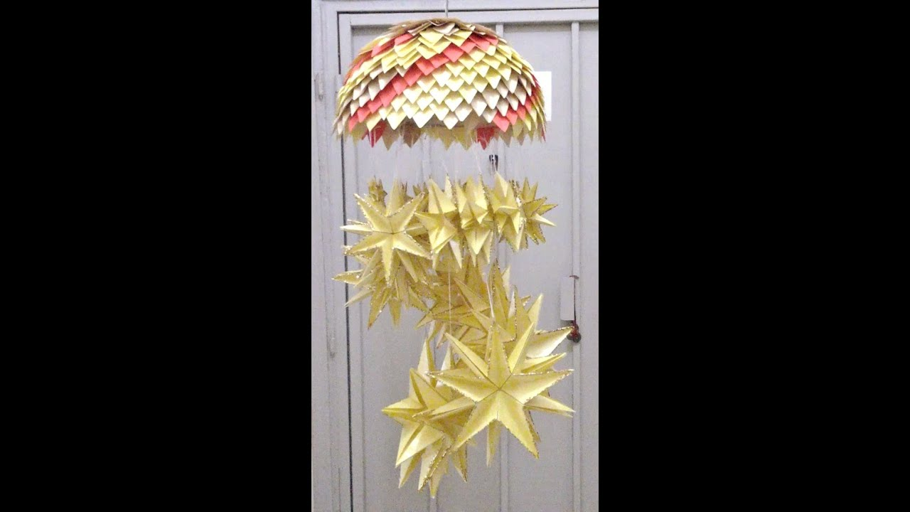 Paper Craft Chandelier PART 1 - YouTube for Paper Chandelier Craft  66pct