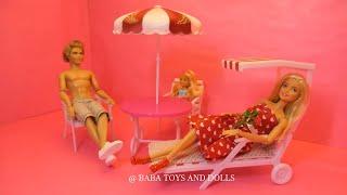 Barbie Garden Furniture Set - Gloria Garden Furniture Unpacking