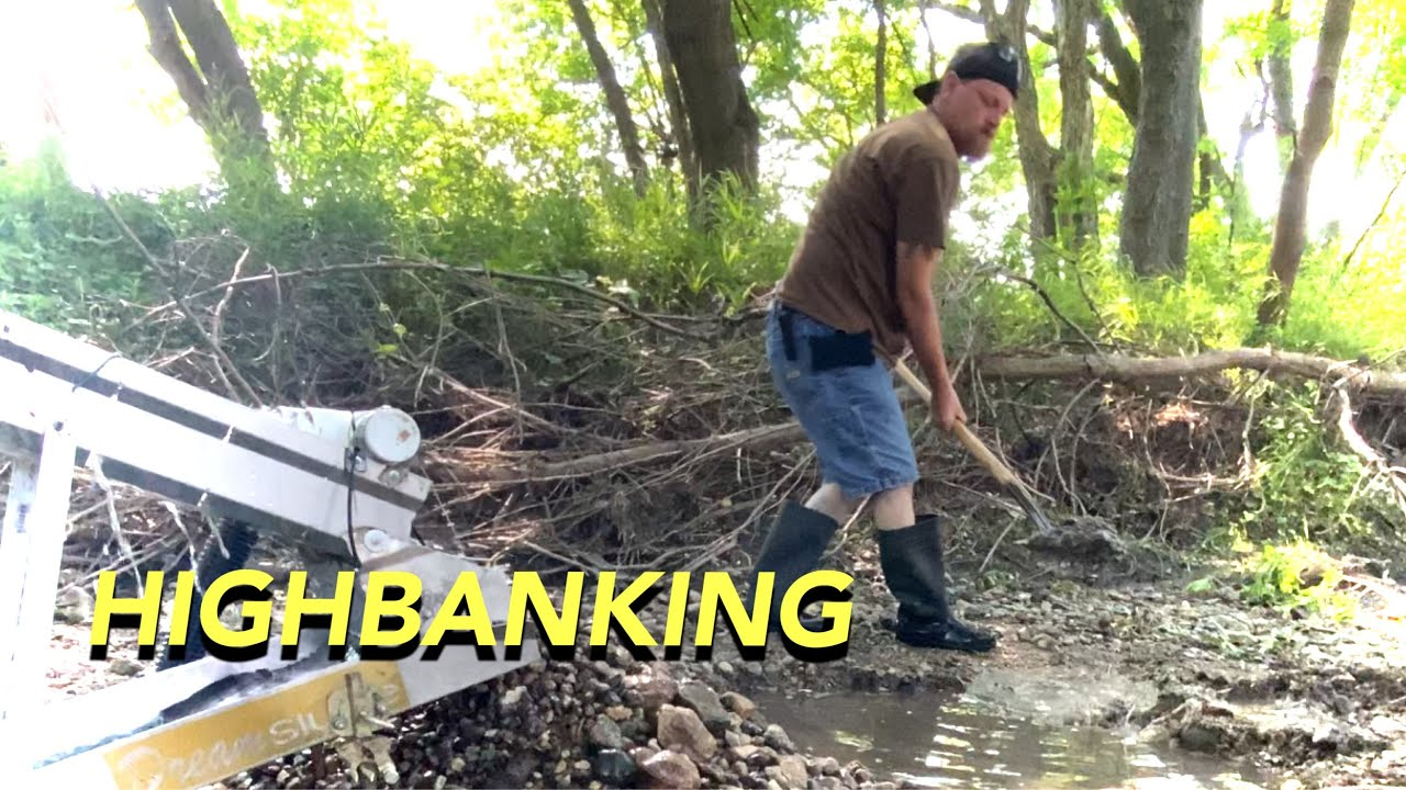 Highbanking shady creek-DIGGING FOR PILES OF GOLD