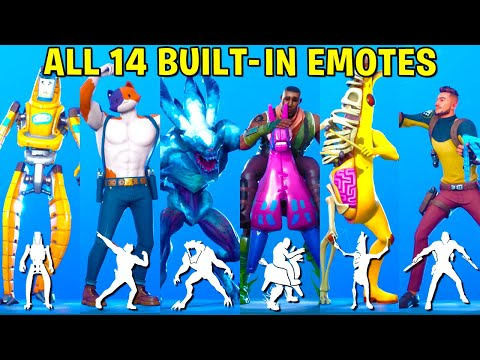 All 14 Built-In Fortnite Dances & Emotes (Butterfly Knife, Xylo-Bone, Swole Cat)