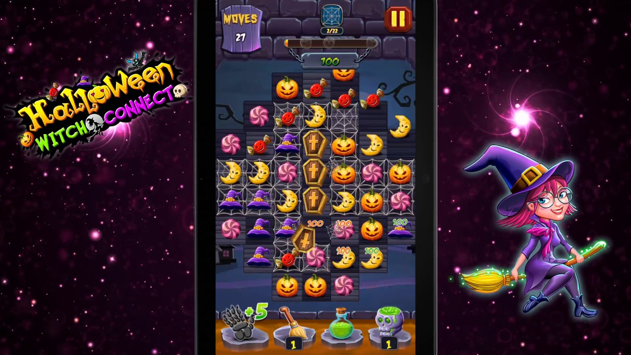 play halloween witch connect on google play