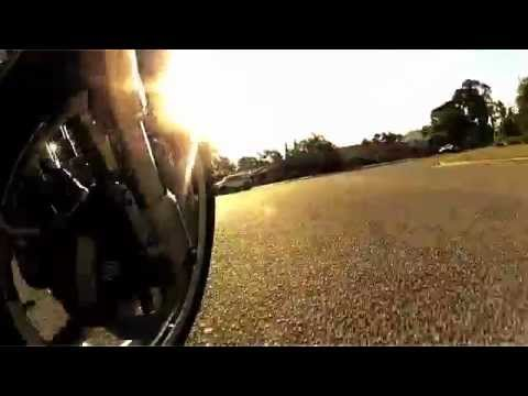 GoPro Surf Cam mounted on VRod Muscle