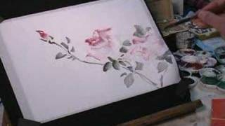 How to Draw Roses on Rice Paper in Watercolor