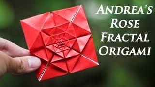 Origami Fractal - Andrea's Rose Tutorial