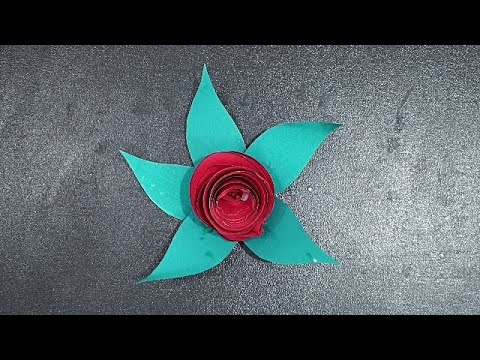 Flower Making With Paper || Paper Craft Flowers || How To Make A Paper Flower || Paper Craft