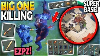 Killing THE BIG ONE w/ 2 Half-Durability WEAPONS + Raiding a SUPER BASE - Last Day on Earth Survival