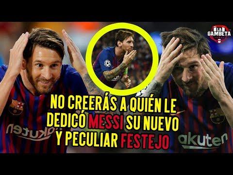 No creerás a quién le dedicó Messi su nuevo y Peculiar festejo