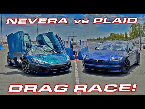 IS 1,914 HP ENOUGH TO BEAT TESLA? NEVERA vs PLAID * Quickest Production Cars in the World DRAG RACE