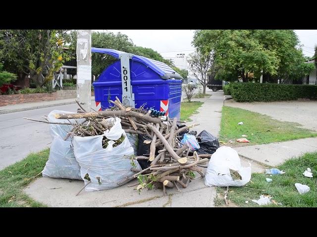 ¿Mal uso de los contenedores de basura en Santa Marta?