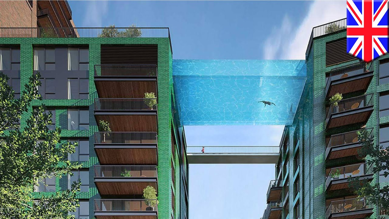 Glaspool Glass Pool Suspended 35 M High To Bridge Luxury London Flats Tomonews