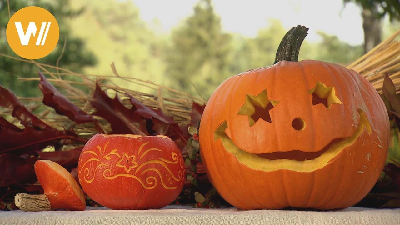 Halloween Dekorative Kurbisse Selber Machen Youtube