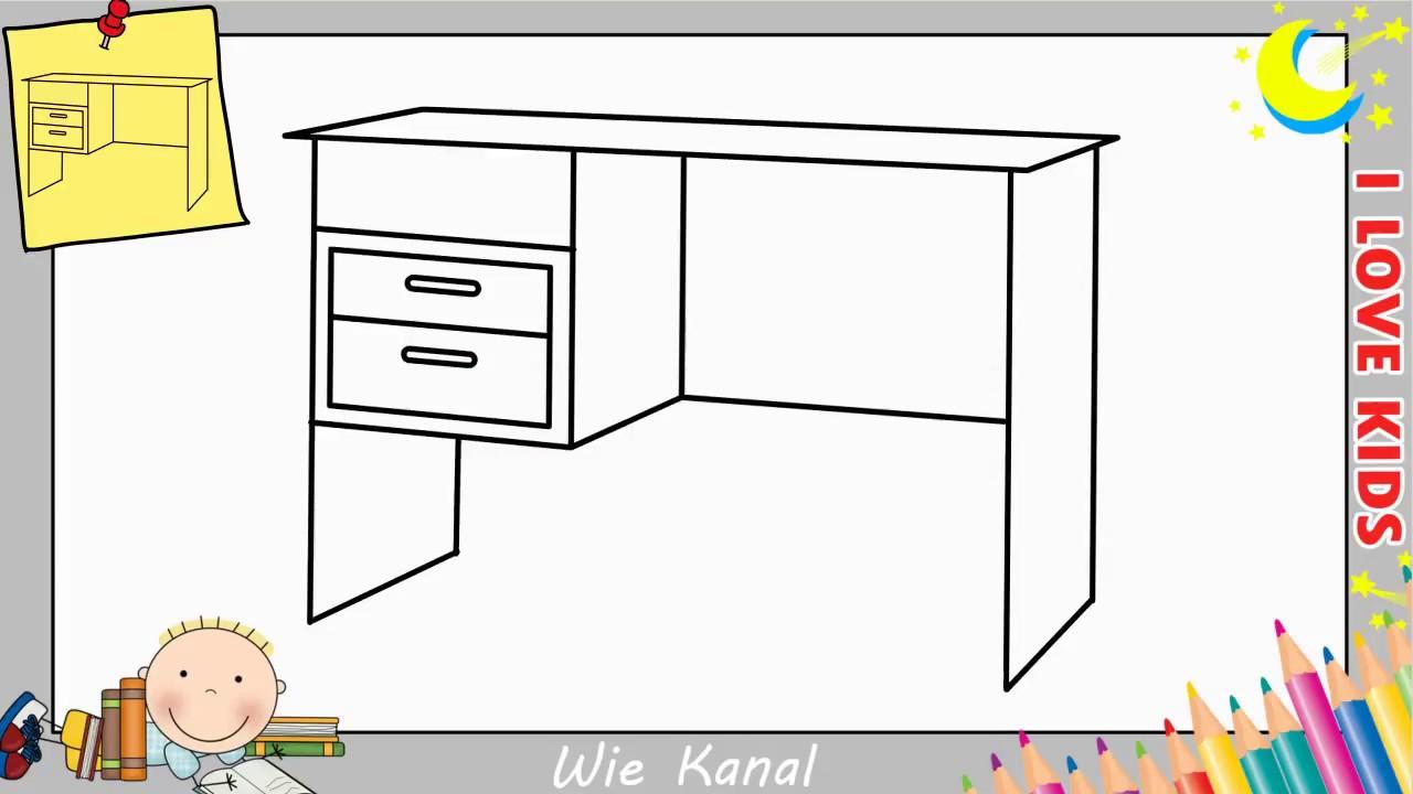 Tisch Zeichnen Lernen Einfach Schritt Fur Schritt Fur Anfanger
