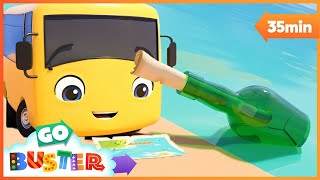 Buster Treasure Hunt Adventure Song! | Go Buster | Baby Cartoon | Kids Video | ABCs and 123s