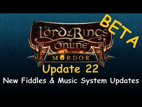LOTRO Beta News - Update 22 Fiddles & Music System Changes